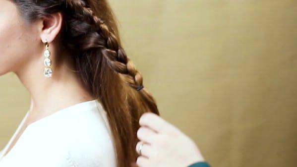 Braiding down length of hair