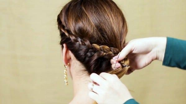Looping braid through ponytail