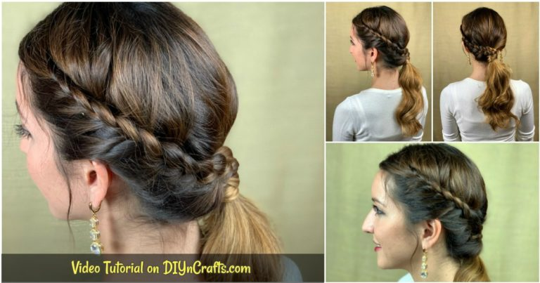 Side ponytail collage image