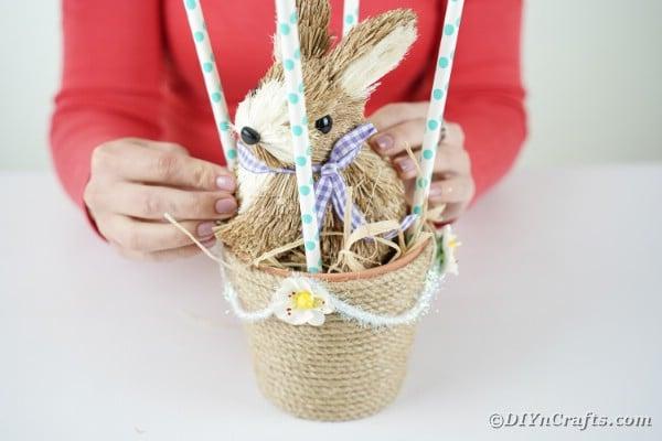 Adding bunny to basket