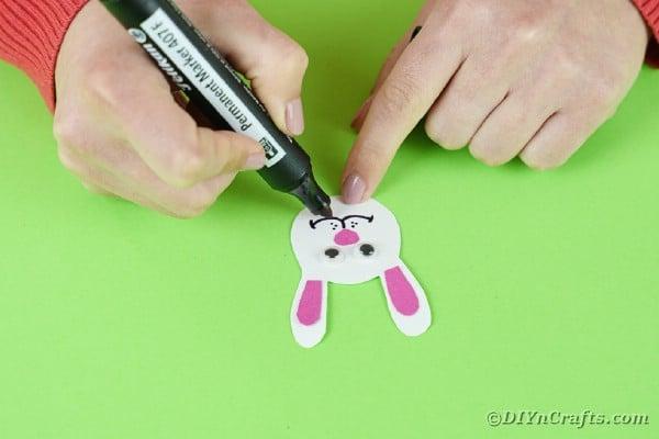 Adding a smile to bunny face