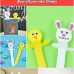 Popsicle Stick Easter decoration bookmarks