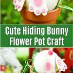 Bunny butt flower pot