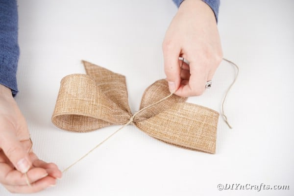 Making burlap bow