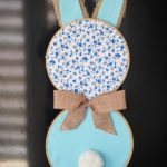 Easter bunny wall decor hanging in window