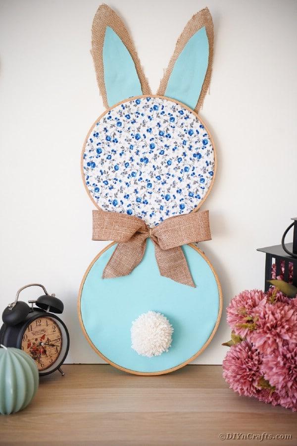 Easter bunny art on desk
