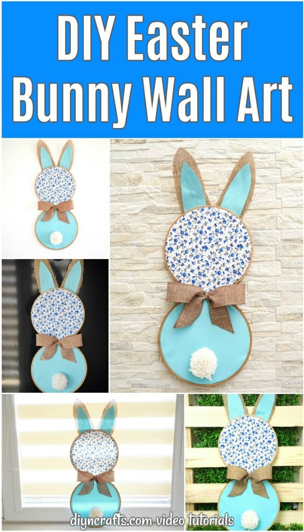 Easter bunny wall art displayed in various ways
