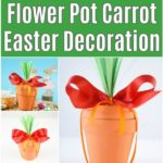 Collage of flower pot carrot