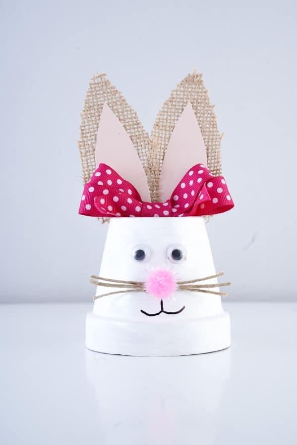 Easter bunny flower pot decoration