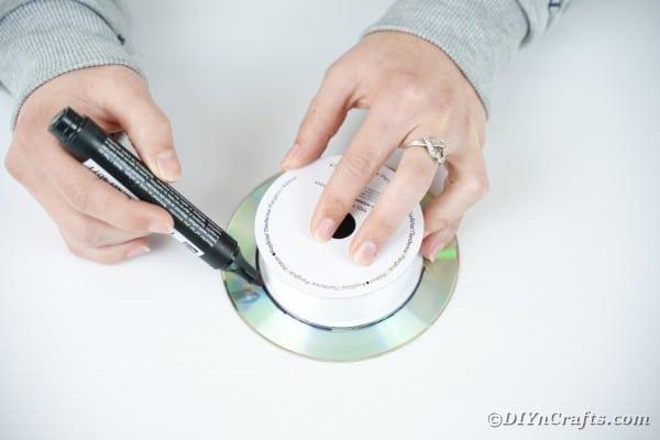 Tracing circle on cd