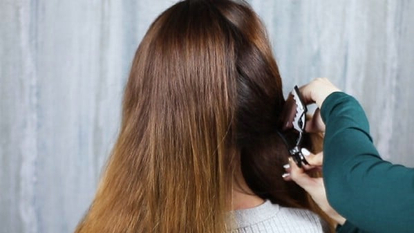 Parting hair for braids