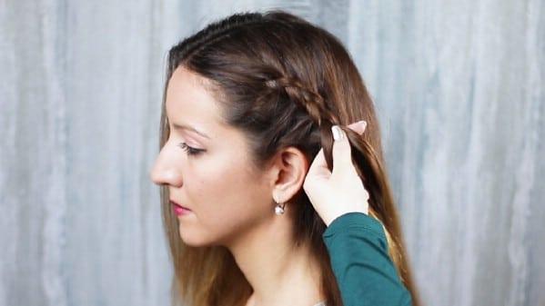 Braiding hair on one side