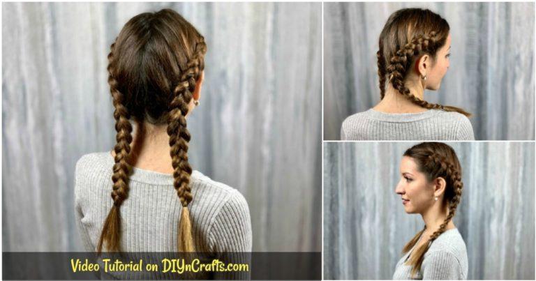 Double Dutch braids collage