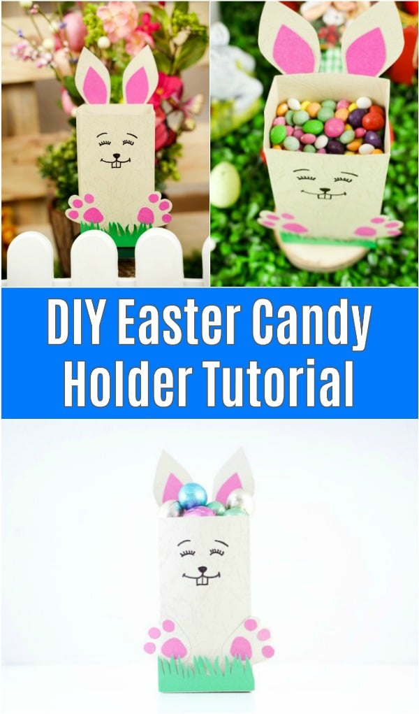 Paper Easter candy holder collage