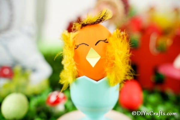 Cute Easter Egg Chicken Craft