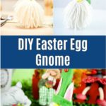 Easter egg gnome collage