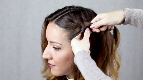 Braiding hair against hairline
