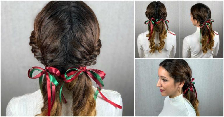 Fishtail braids collage