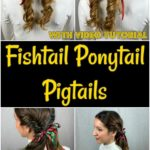 Fishtail pigtails collage