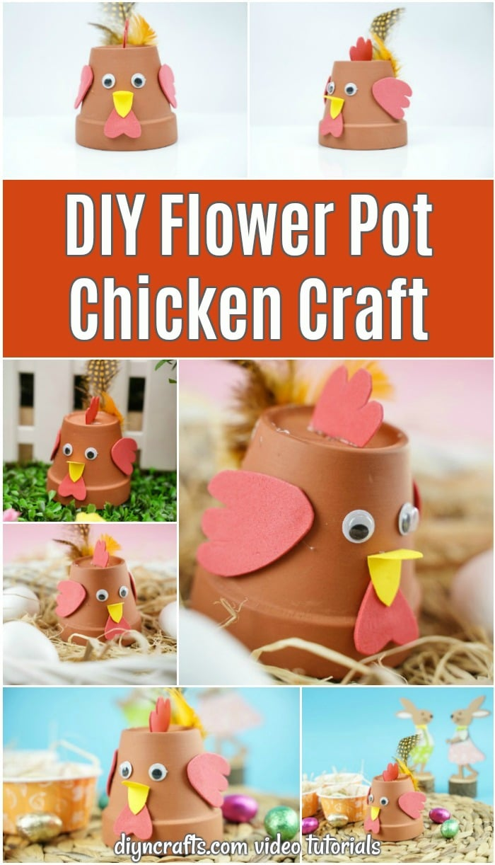 Terra cotta flower pot chicken