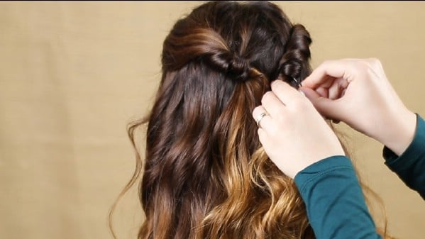 Adding additional braid to hair in back