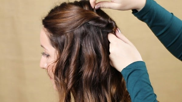 Securing hair with bobby pin