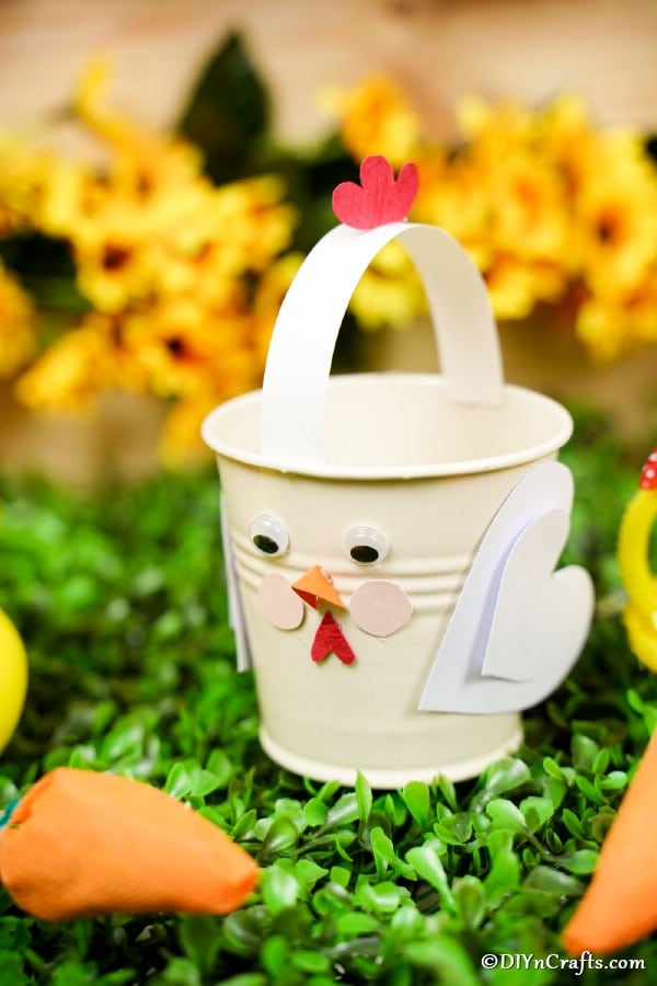 Chicken bucket on grass