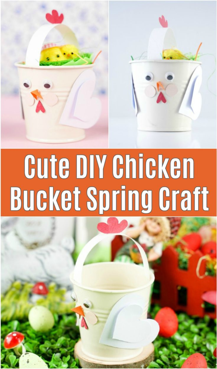 Chicken bucket craft collage