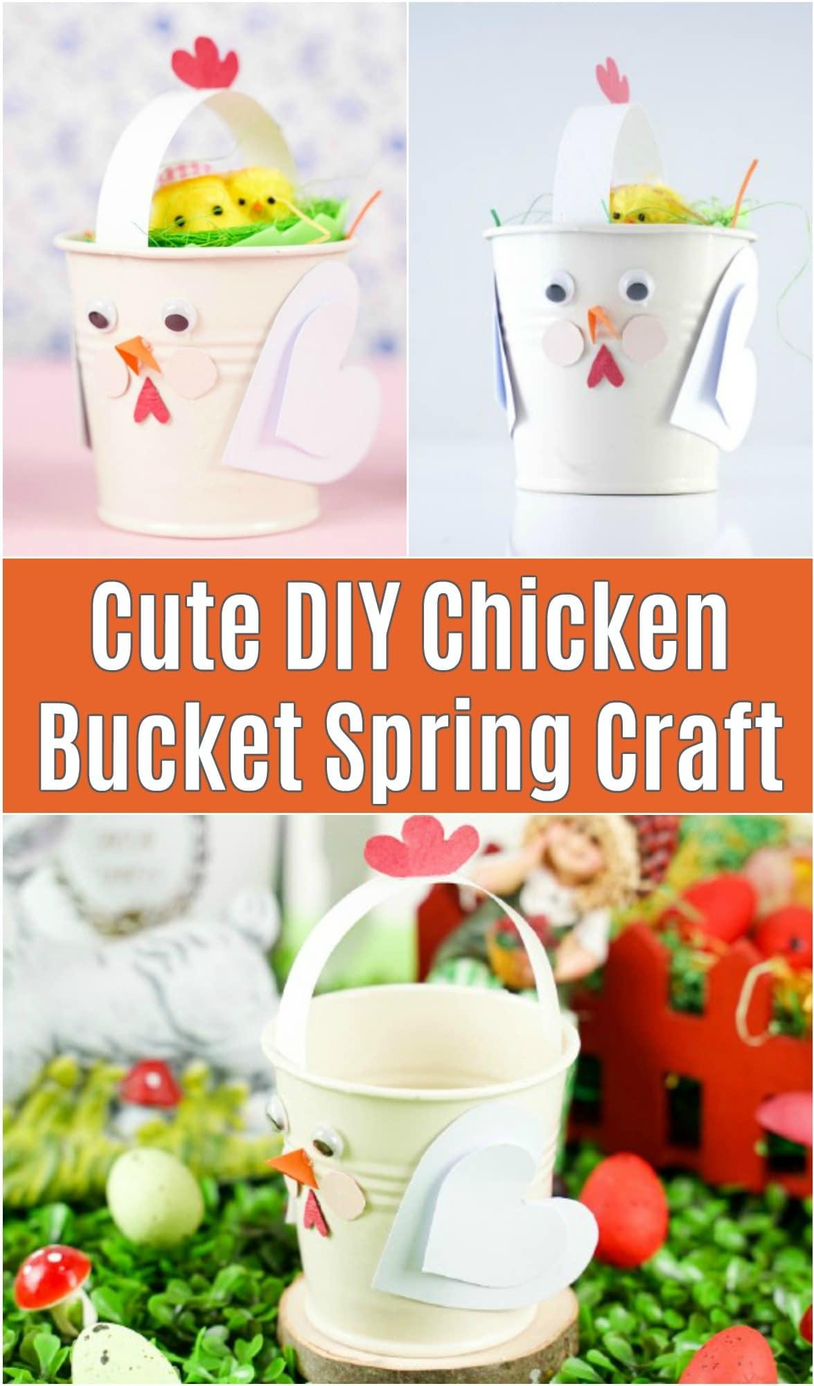 Chicken bucket craft collage