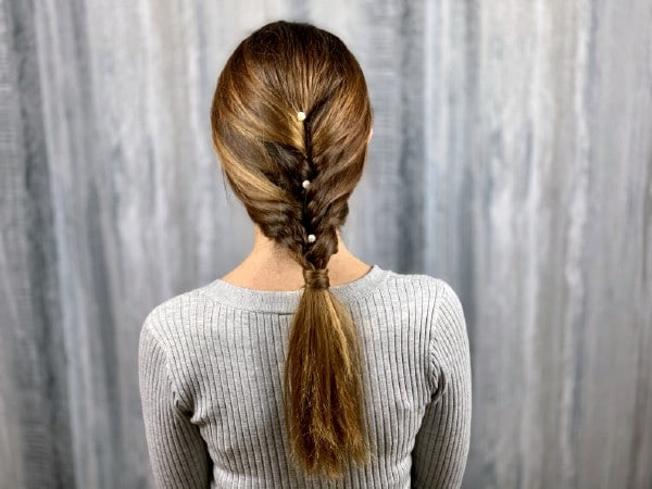 Horsetail loose braids hairstyle