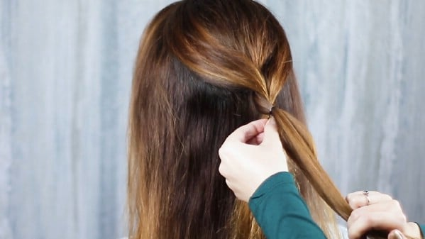Braided hair on brunette