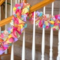 7' Easter Color No Sew Fabric Garland
