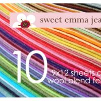 Wool Felt Sheets - Choose Any Ten (10)