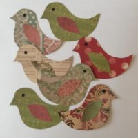 Scrapbook Paper Bird Cut Outs