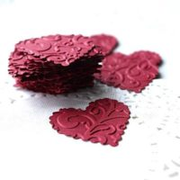 Embossed Heart Stickers