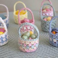 Mini Easter Baskets Crochet Pattern