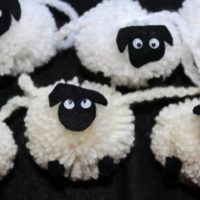 Sheep pom pom garland