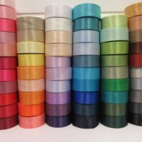 50mm Double Side Satin Ribbon, 2 metres or 25 metre Full Roll