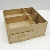 Paper mache desk or tool organizer