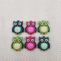 Strong Colorful Owl Magnets