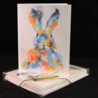 Watercolor Bunny Card