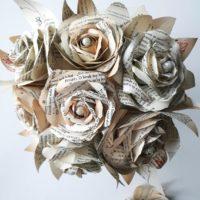 Book Paper Flowers Bouquet