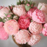 Peonies paper flower bouquet