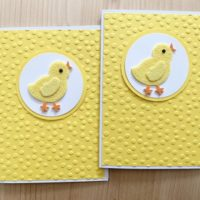 Handmade Baby Chick Easter Cards