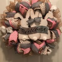 Burlap Easter Bunny Wreath