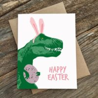 T-Rexx Bunny Easter Card