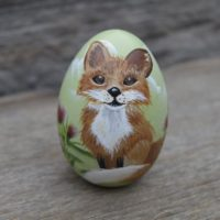 Hand Painted Fox Easter Egg