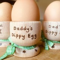 Personalized Wooden Egg Cups