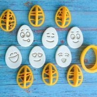 Emoji Egg Cookie Cutter Set in Egg