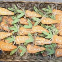 Easter Carrot Name Tags